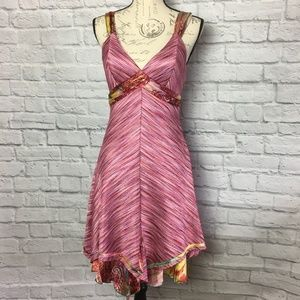 Mary L Couture Pink Dress with Silk Size 6